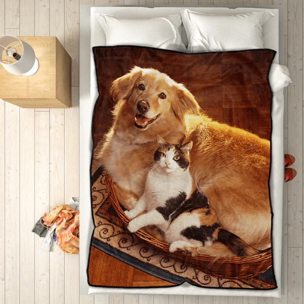Personalized Pets Photo Fleece Blanket