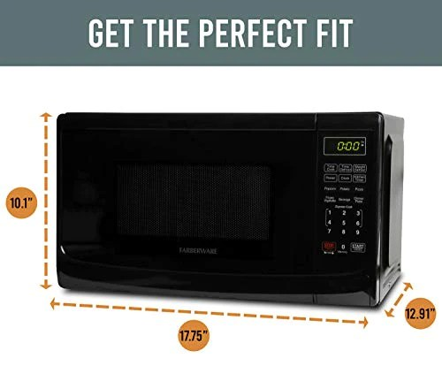 farberware classic fmo07abtbka 0 7 cu ft 700 watt microwave oven wit homeloft europe