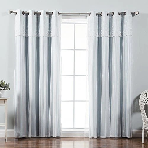 best home fashion mix match tulle sheer with attached valance soli homeloft europe