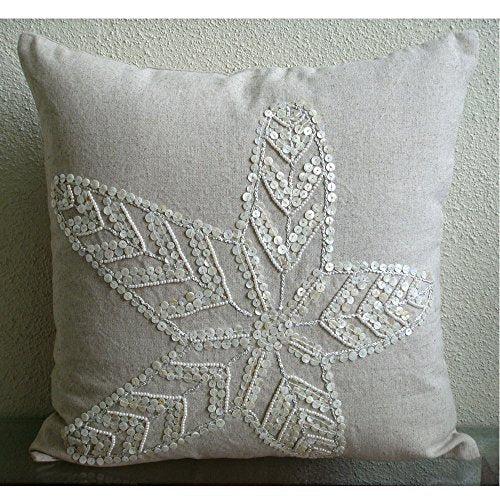 the homecentric ecru pillow cases starfish ocean and beach theme pill homeloft europe