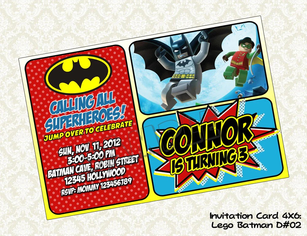 batman invitation batman birthday
