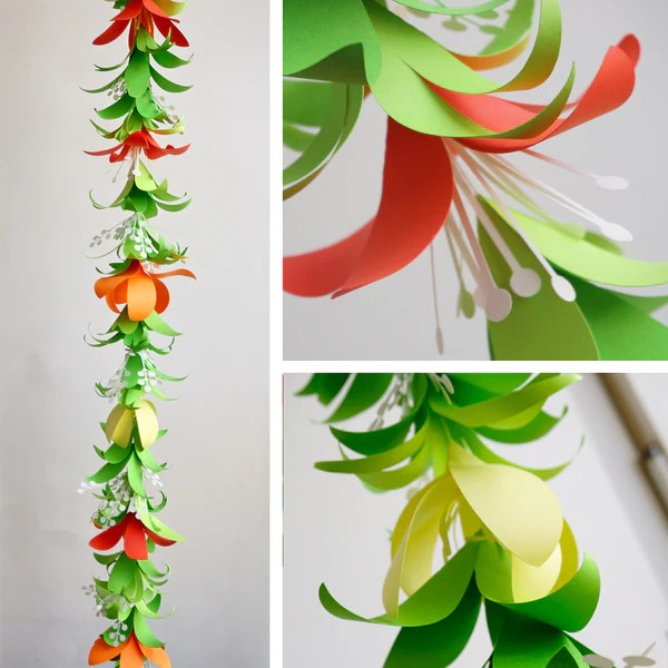 Tropical Flower Garland Amp Lei Templates SVG DXF Especially Paper