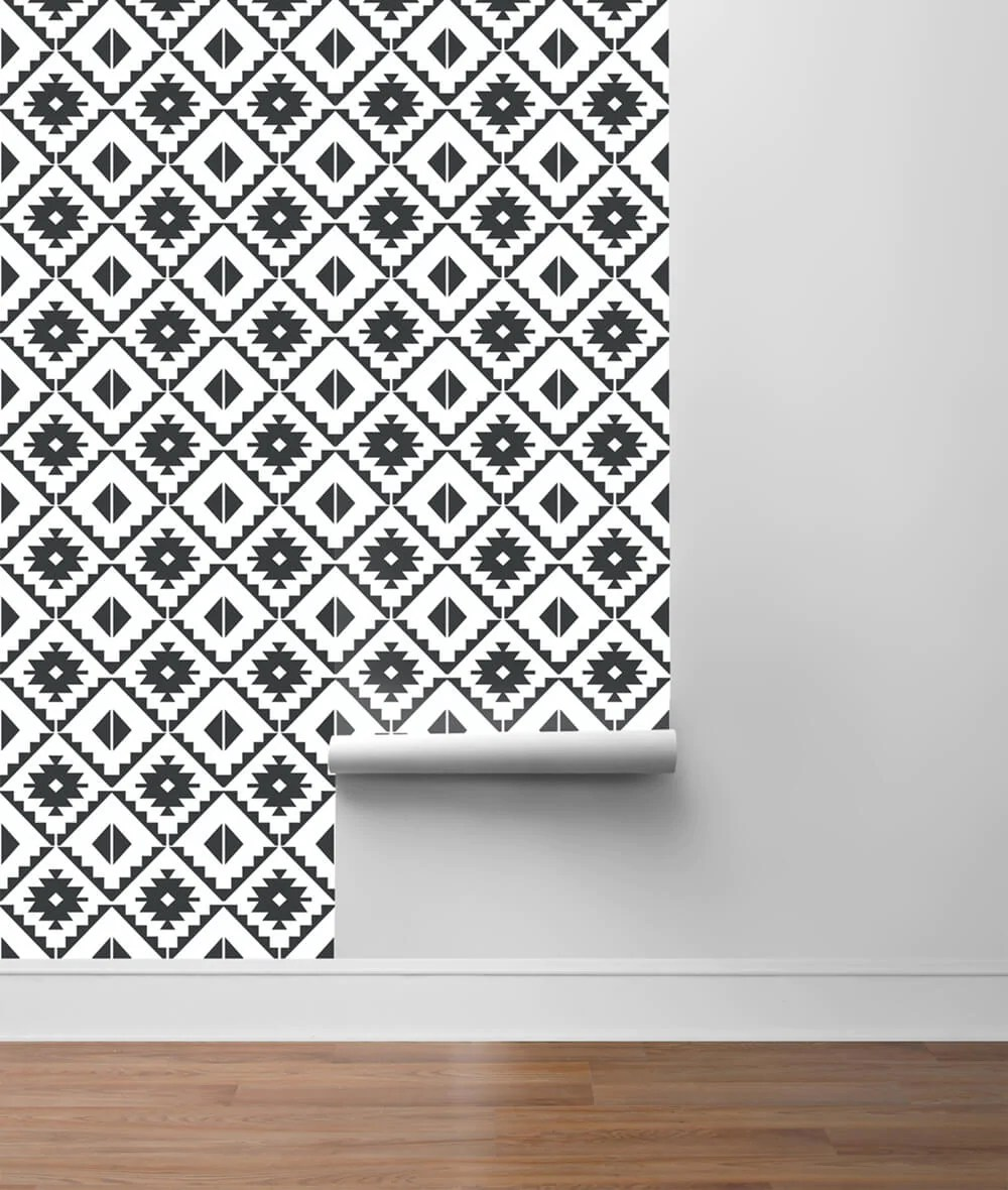 nextwall southwest tile peel and stick removable wallpaper