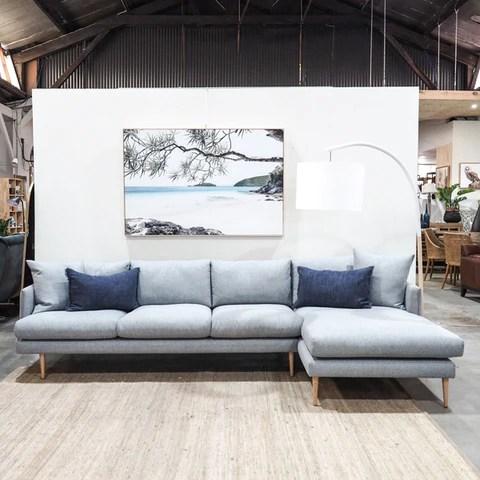 ariana fabric sofa with chaise