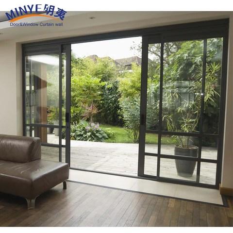 exterior sliding open balcony door with grill design patio door on china wdma