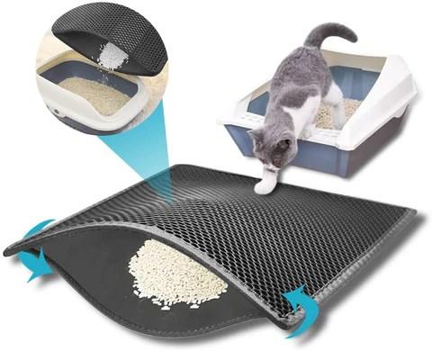 tapis de litiere pour chat anti traces