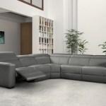 Modern Mirage Reclining Sectional With Adjustable Headrest Jubilee Modern Furniture Las Vegas Jubilee Furniture