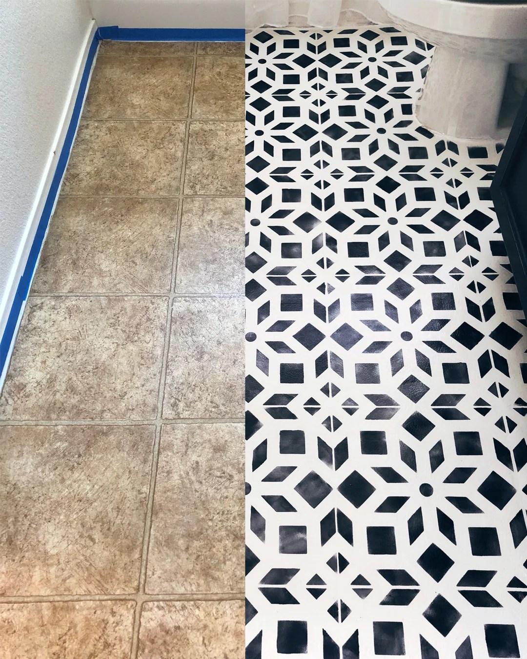 how to paint linoleum or tile floors