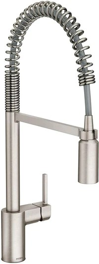 moen 5923srs align one handle pre rinse spring pulldown kitchen faucet spot resist stainless