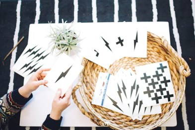 DIY stationary using wall decals