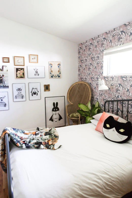 Go Bold in Small Spaces with Removable Wallpaper by WallsNeedLove