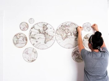 Antique Map wall decals
