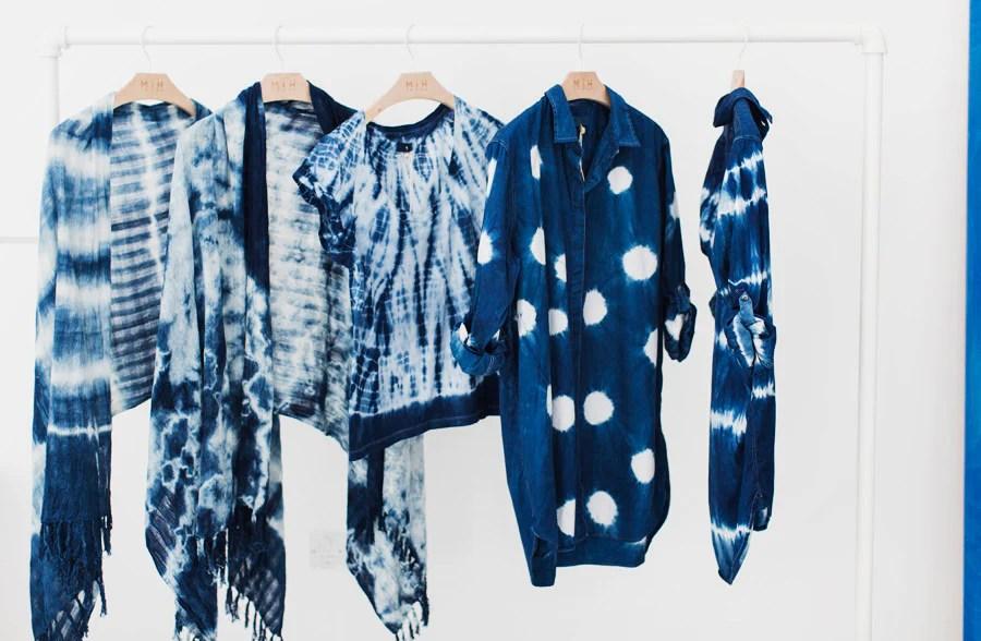 Shibori dyed garments.