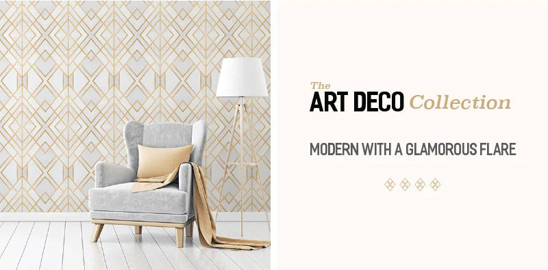 All new Art Deco Removable Wallpaper Collection by WallsNeedLove