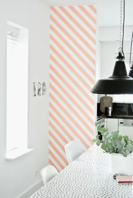 Diagonal Wall Accent with Vinyl Tape
