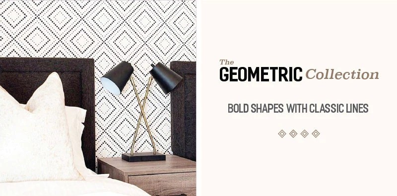 Shop Geometric Removable Wallpaper Collection by WallsNeedLove