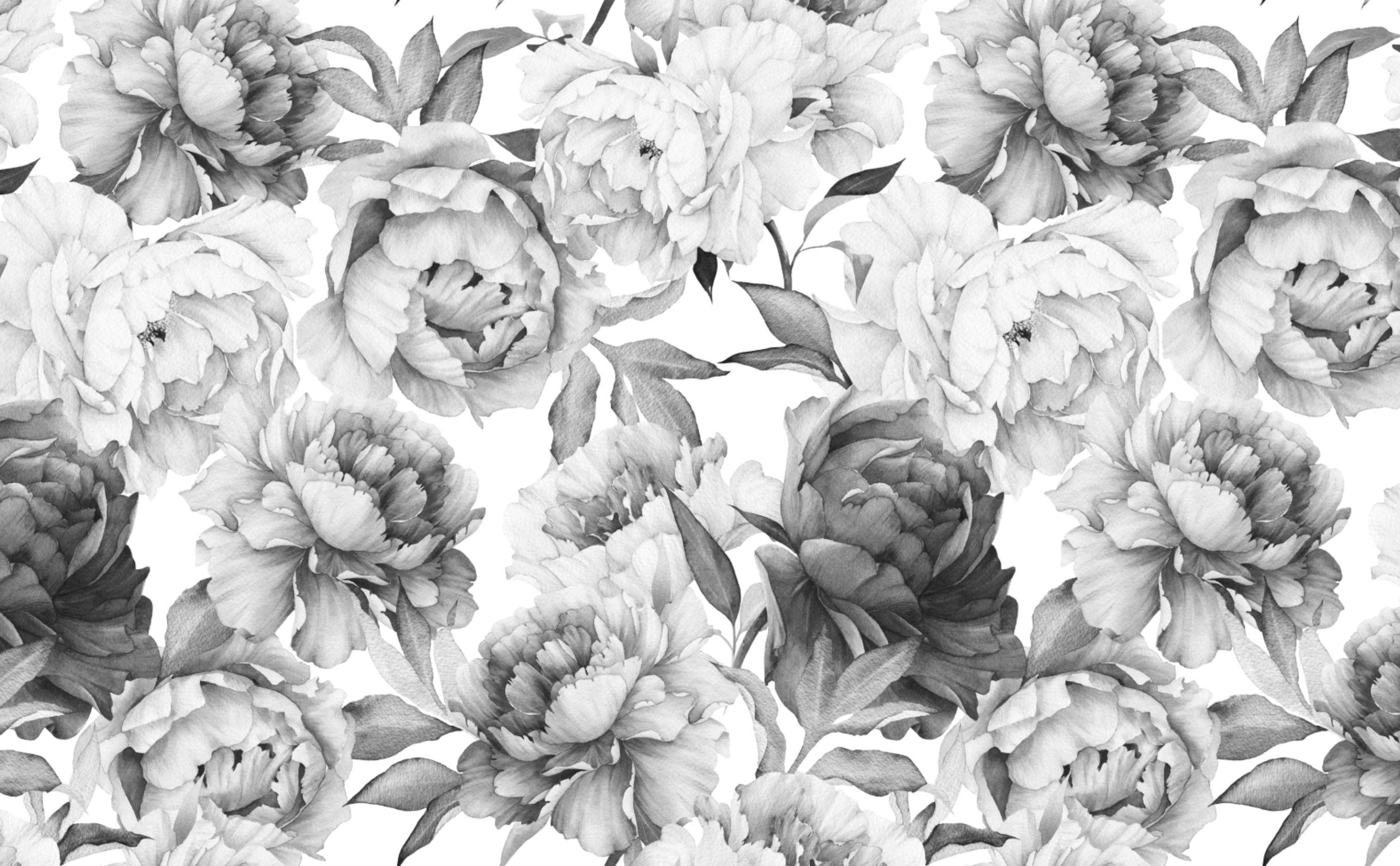 Bold Floral Pattern Wallpaper For Walls Clara Black White