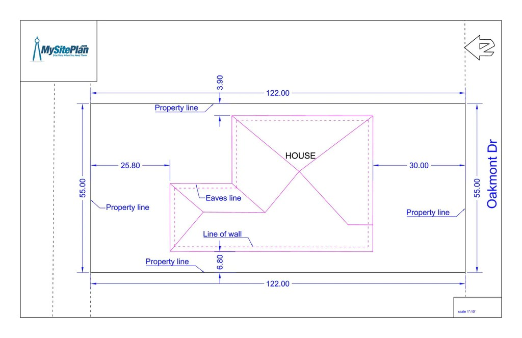 Simple Plot Plan Drawn By Our Designers And Delivered As A