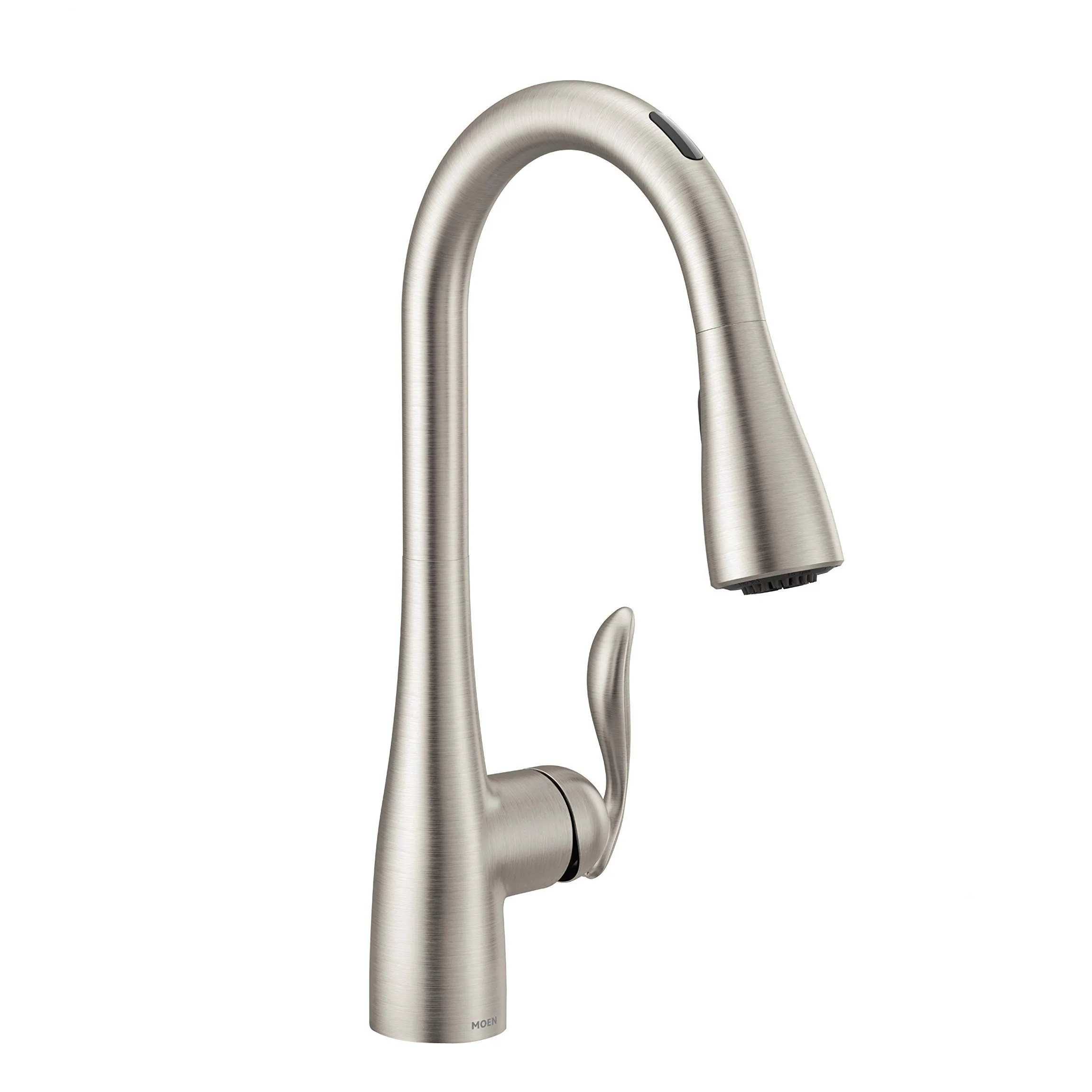 moen 7594evsrs arbor u by moen smart pulldown kitchen faucet with voice control and motionsense spot resist stainless
