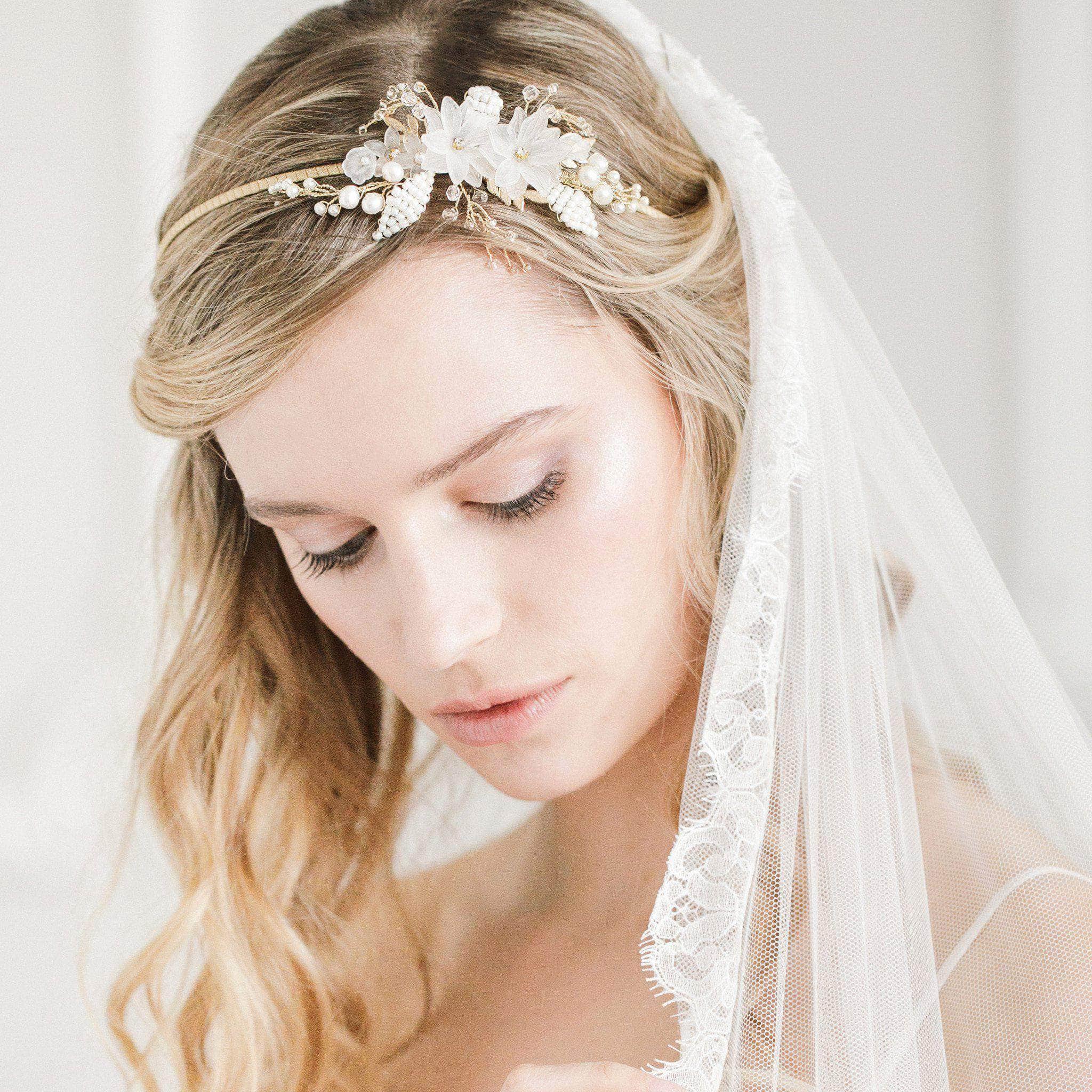 flower wedding head band