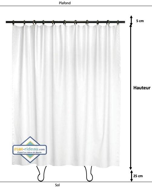 taille de son rideau de douche