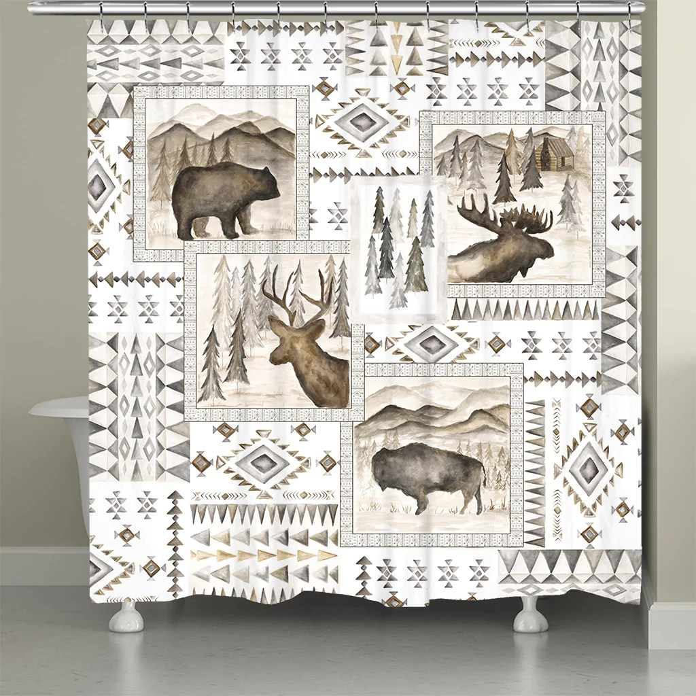aztec lodge shower curtain