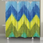 Brilliant Chevron Shower Curtain Laural Home