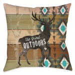 Rustic Outdoors Outdoor Decorative Pillow Laural Home
