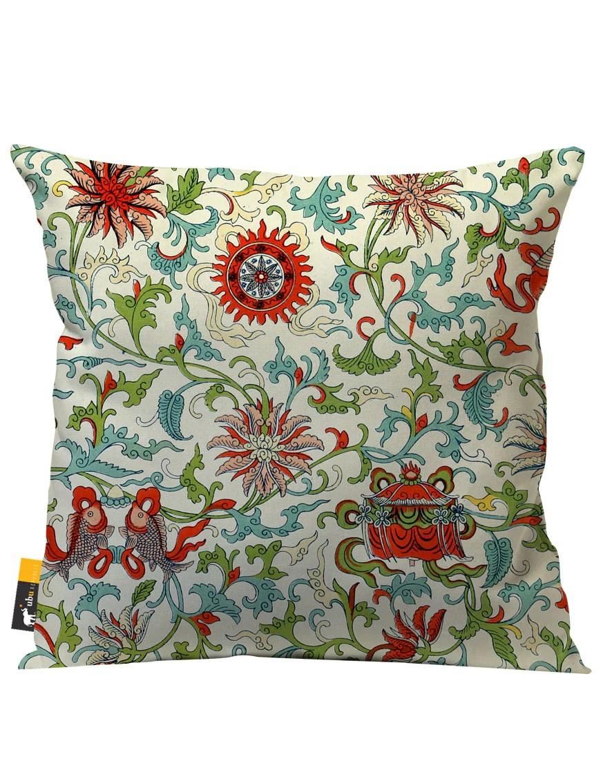 jin dynasty outdoor throw pillow