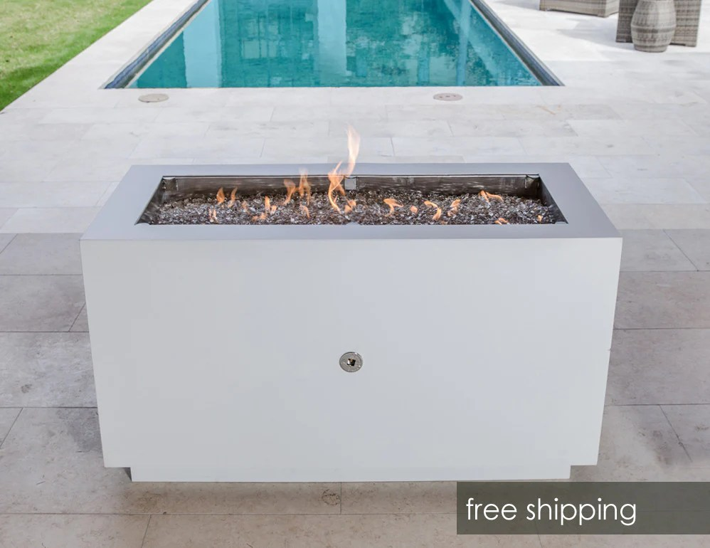 Rectangular Steel Fire Pit With Hidden Propane Tank Creative Living
