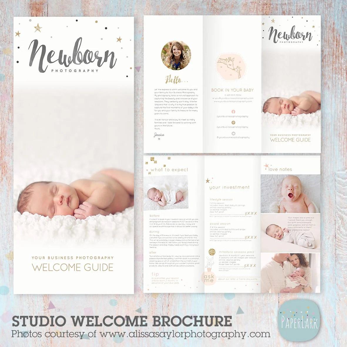 Newborn Photography Trifold Brochure Template PG019