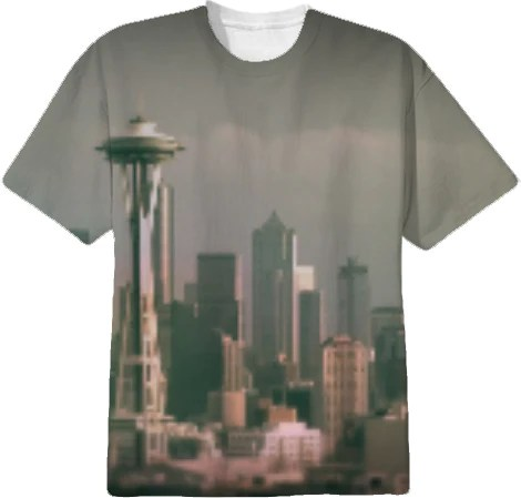 Grey Seattle Focus Shift Tee Shirt By stine1