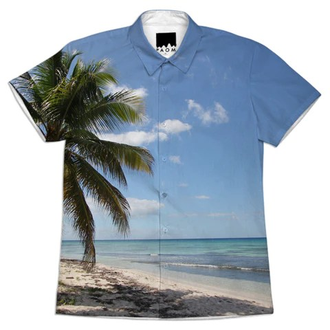 Isla Saona Caribbean Paradise Beach Shirt by stine1 on Printalloverme