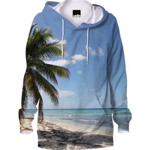 Isla Saona Caribbean Paradise Beach Hoodie by stine1 on Printalloverme