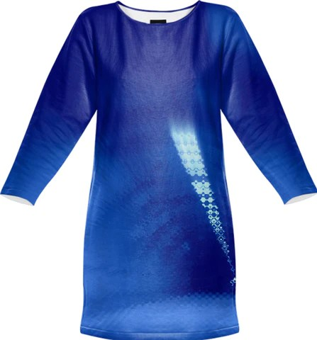 Blue Wormhole in Space Tunnel Photo Edit Sweatshirt Dress by stine1, $95.00