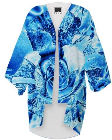 Blue Ice Rose Kimono By stine1
