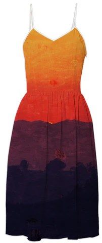Five Shades of Sunset Summer Dress by stine1 on Printalloverme