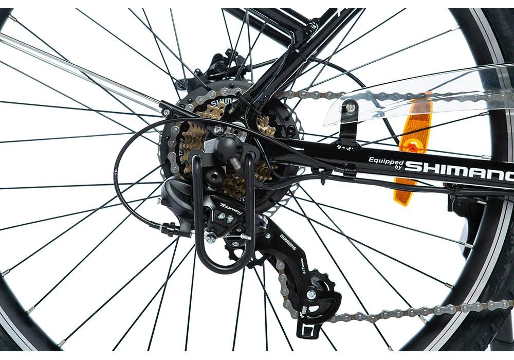 Moma Bikes Vélo Electrique VAE De ville, Ebike-26.2, Aluminium, SHIMANO 7V, Freins a Disque Hydraulique  Bat. Ion Lithium 36V 16Ah