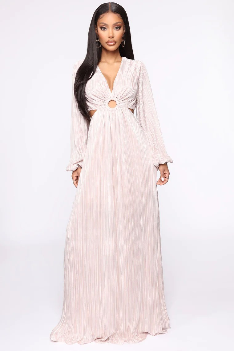 On A High Maxi Dress - Taupe 2