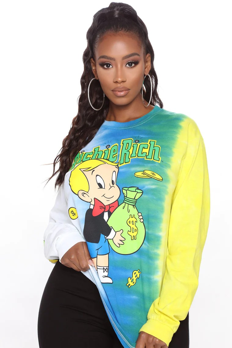 Richie Rich Long Sleeve Tunic - Multi Color 2