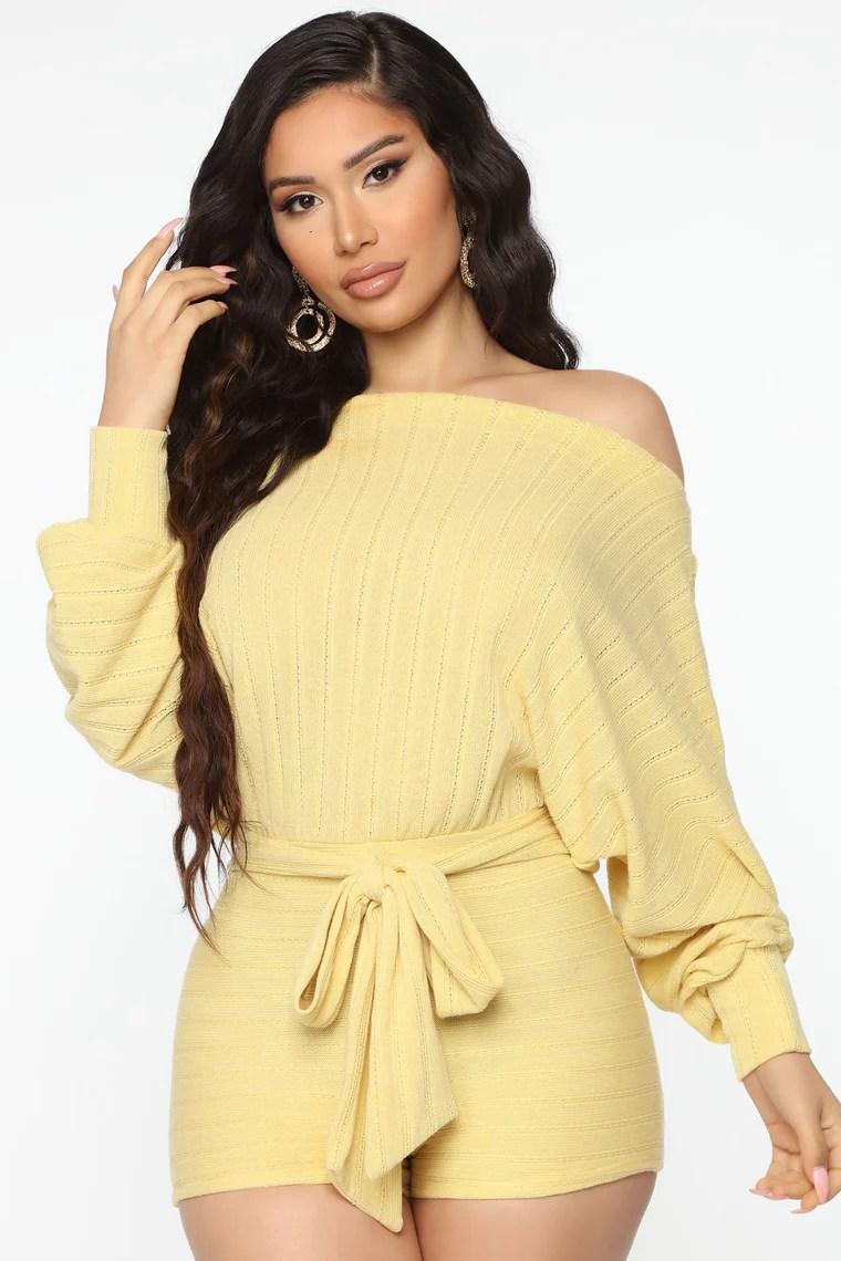 Top Notch Girl Romper - Yellow 2