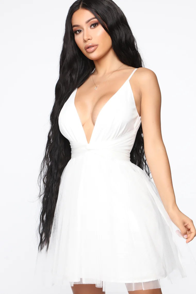 Life's A Movie Flare Mini Dress - White 4