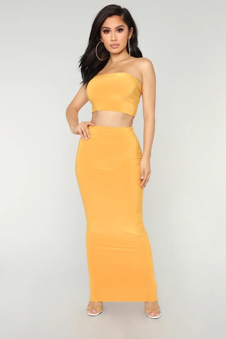 Des Skirt Set - Mustard 2