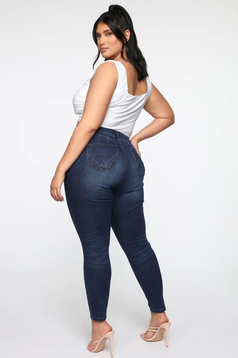 Instant Butt Lift Skinny Jean - Dark Wash 6