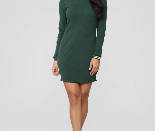 Have It Your Way Dress Hunter Green