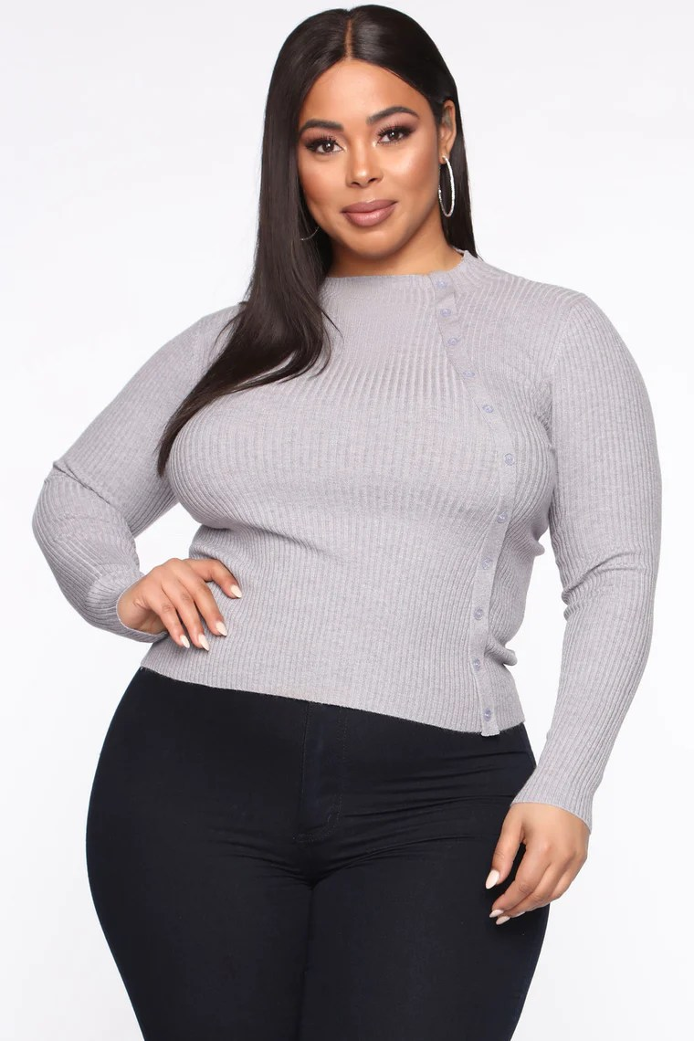 Never Let Me Down Sweater - Heather Grey 5