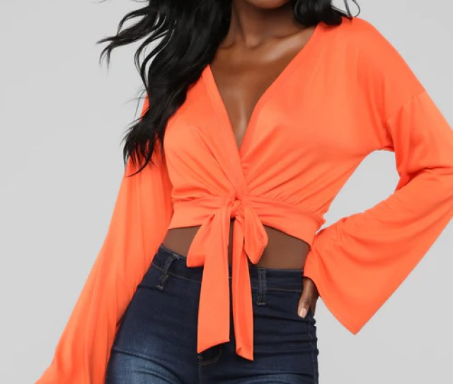 If I Ever Fall In Love Top Orange