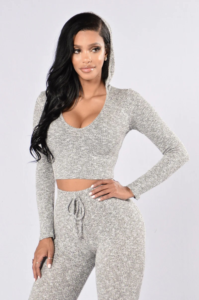 Kylie Fashion Collection   Shop the Sexy Look From Our Kylie Style Wanderlust Hoodie   Grey