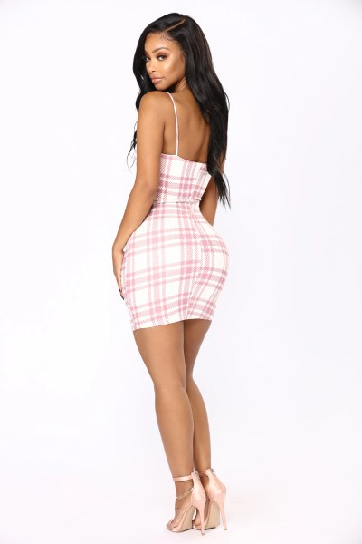 Total Betty Plaid Dress   Pink