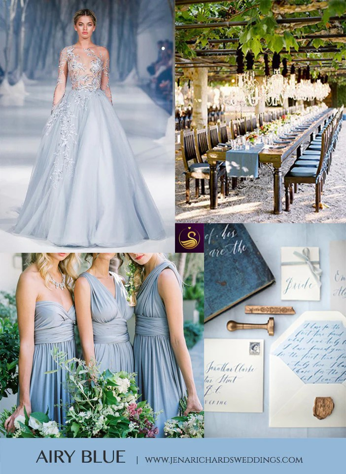 Beautiful Airy Blue Your Wedding Color Palette Jena